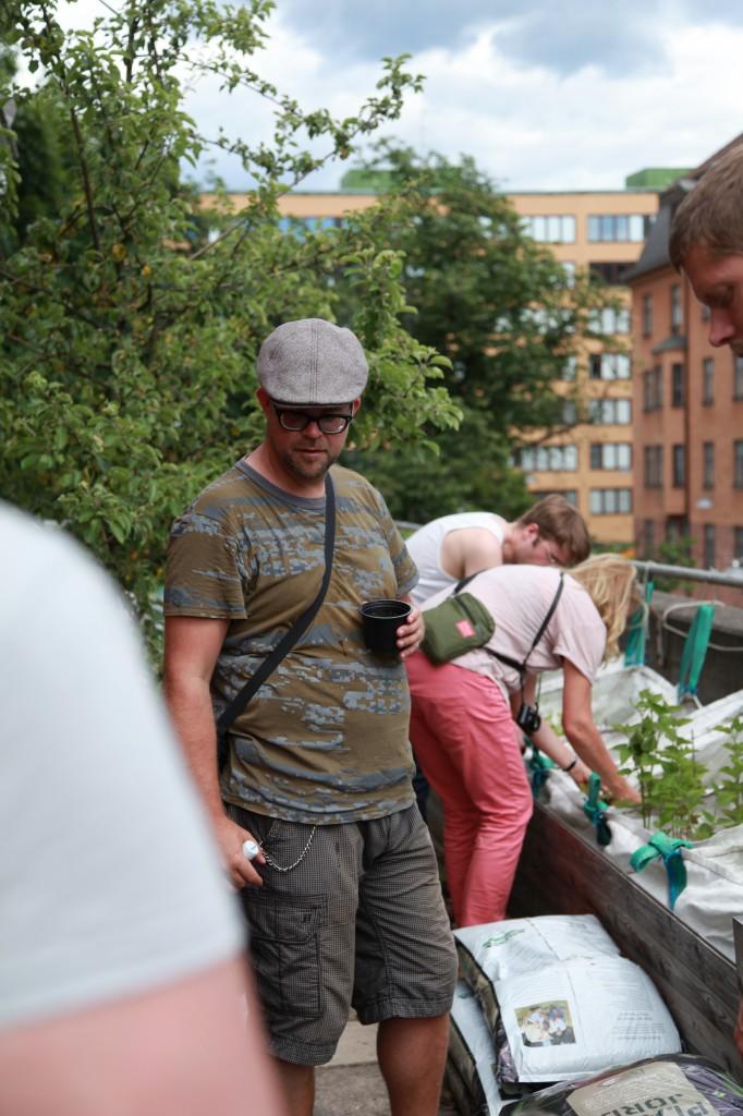 Mattias från Urbio och Gröna Linjen-projektet, Gröna linjen cykelsafari ©Ulrika Flodin Furås