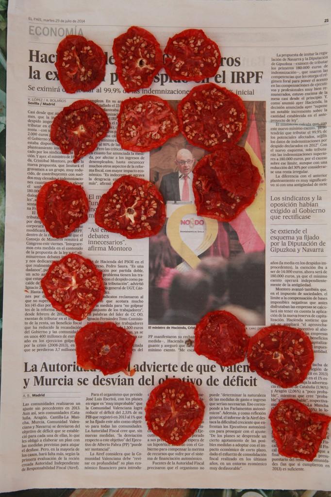 Soltorkande tomater ©Ulrika Flodin Furås