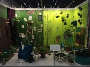 En installation utav hur en nordisk trädgård kan se ut