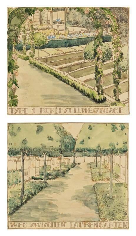 Trädgårdsskisser