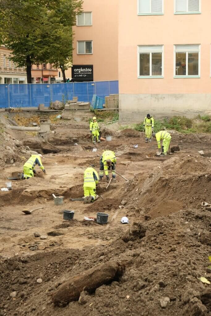 Utgrävning av kvarteret Rosenlund.